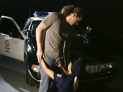 Damn hot officer on dick patrol