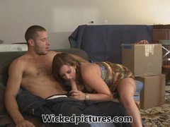 Moving house gets hot for dirty ass bitch Tory Lane