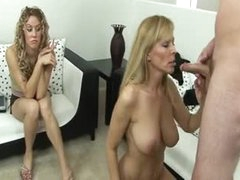 Girl joins her mom and boyfriend in fuck video