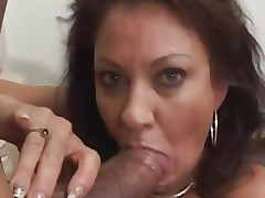 Vanessa Videl stuffs this hard dick down her face hole
