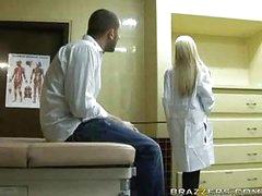 Hot blonde doctor gets patient cock