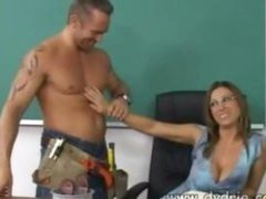 Construction Worker Finds Sexy Teacher Devon Lee At Her Desk And Makes Her Engulf His Knob Before He Bonks Her Twat Right There In The Classroom Mature Tits Cumshot