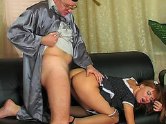 Hot coed going to the professor to take extra fucking and sucking lessons