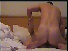 Nice girl's skillful mouth works on her lover's strong pecker, licking and sucking it very keenly and gets fucked ardently.