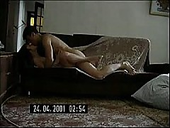 Short-haired Russian mom decided to try having sex with the guy half her age. She didn't regret it for a second, this guy is a freak like she is and is fine with making home sextapes.