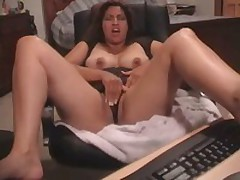Latin babe gets her pussy fucked and stroked by her beloved toy. She started with tender touches and finishes with pounding.