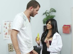 Scott Nails visits Doctor Love hoping to find an answer to his premature jizz flow problem. This Babe introduces him to a very effective spray that numbs his dong. In order to find out if the solution works properly on him they must obviously fuck. Can u think of any other way of testing it out? No? Me neither.