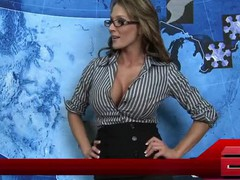 Two newscasters, John and Ariella, deliver the evening news making inappropriate comments. It's obvious that their friendly report is sexually flirtatious when they go to Nikki for a weather report. They are caught engaging in raunchy activity on camera. Though they try to proceed the broadcast, the newscaster's desires pretty soon get the more excellent of 'em in the middle of the show.