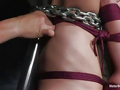 Amber is getting what she deserves, her executor tied her with chains, putted a tube in her mouth so she can breath and submersed her upside down. She can't escape and her executor is just begging, what will he do with her thin body and will he let her breath?