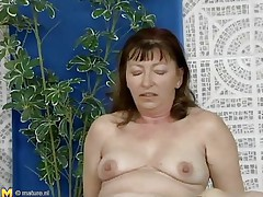 This mature woman was looking for a swim, but a better exercise to loosen u up is riding a cock, which is exactly what she's doing. She slides down each inch of her man's dick, loving the feeling of being fucked. She gets off to ride him normally, and that guy thrusts up hard and fast in her bushy cunt.