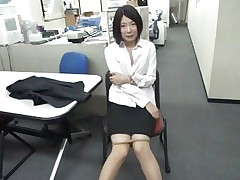 Bored at work the excited dark brown playgirl starts sucking on that dildo. She's lewd and loves playing with dildos but what if her boss finds her? Doesn't this babe knows that this kind of stuff are not allowed at work? Well, maybe this babe will be lucky and won't get caught, or this babe will have to engulf on a real rod