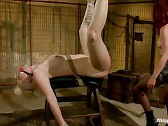 Blonde beauty Sasha is being sexually used by her mistress Madeline. Madeline is a horny redhead with a passion for domination. She tied Sasha really hard and ball gagged her. Madeline then used her strap on dildo to fuck the blonde cutie deep and hard from behind. only the sight of that sexy white ass makes her wild