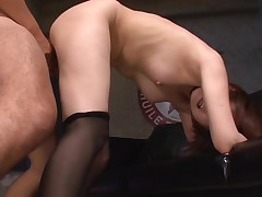 Oriental hottie mounts big 10-Pounder and fucks until that chick squirts