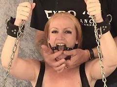 Take a look at this blonde bitch Tori as she is chained to the...
