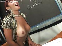 Shemale Prisilla teaches male to suck schlong