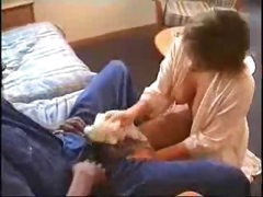 Cheating young wife with a dark lover