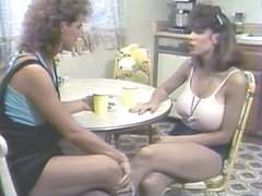 Erica Boyer &,amp, Christy Canyon Mash Gash in the Kitchen